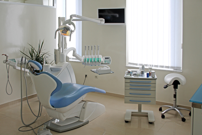Interior of modern dentist office